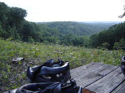 This is the view from Hesitation Point in Brown County State Park near Nashville, IN.