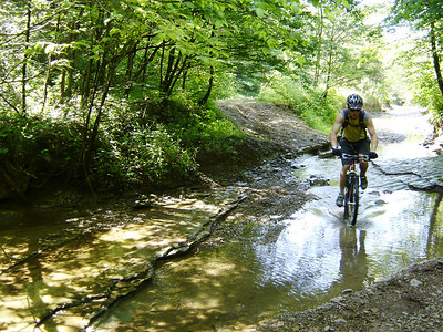 """Riding on Combs """"Road"""" near Nebo Ridge in the Hoosier National Forest."""